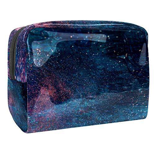 TIZORAX Sac à cosmétiques en PVC Bleu et Rouge