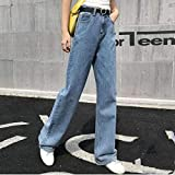 Pantalones Jeans Vintage Ripped Straight Jeans For WomenHole Jean Female...