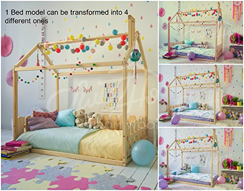 Sweet Home from Wood Cama infantil Montessori (135 x 190 cm)