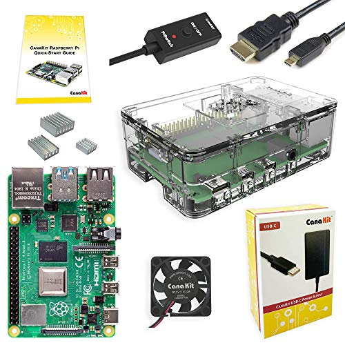 2. CanaKit Raspberry Pi 4 4GB Basic Starter Kit with Fan (4GB RAM)