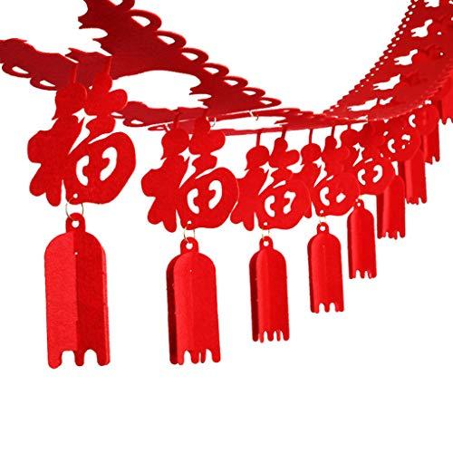 F-blue no Tejido de DIY Año Nuevo Chino Tradicional