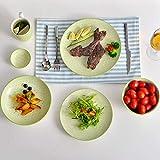 Vancasso, Natsuki Porzellan Speiseteller, 12 teilig Rund Teller Set, Ø 27 cm Große Flachteller, Bunt - 5