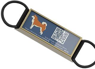 Etichette per animali da compagnia personalizzate con immagine astratta di tirieri Rfy9u7 in acciaio inox per cani e gatti