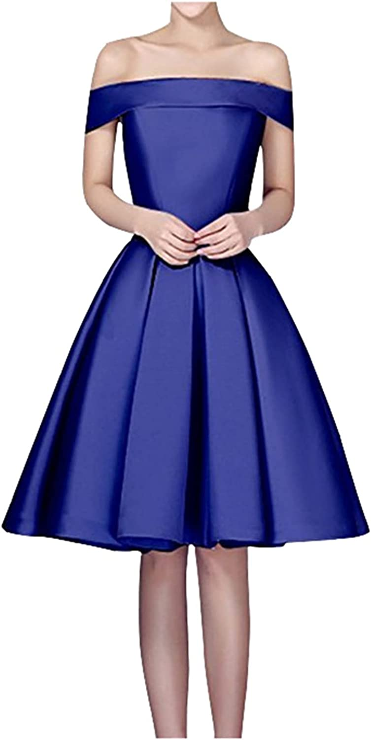 Meowmming Women's Off Year-end gift The Shoulder with New sales Homecoming Satin Dresses