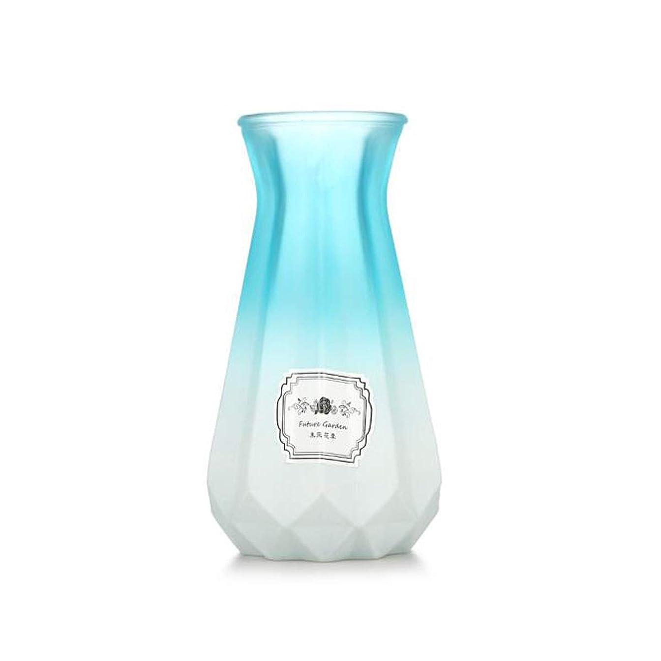 大胆キロメートルシュガーCPWJD 花瓶、ガラスの花瓶、装飾、ホームデコレーション、花瓶 (Color : Blue)
