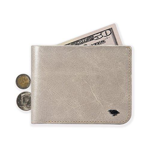 Ikepod uomo Hide & Carry portafoglio | Premium in vera pelle italiana [super slim Bilfold cuciture.] JAV