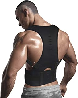 10 Magnets Back Braces for Back Pain - Best Fully Adjustable Posture Corrector for Men & Women - Improves Posture and 2 Steel Bone Provides Lumbar Support (Black, XX-Large)