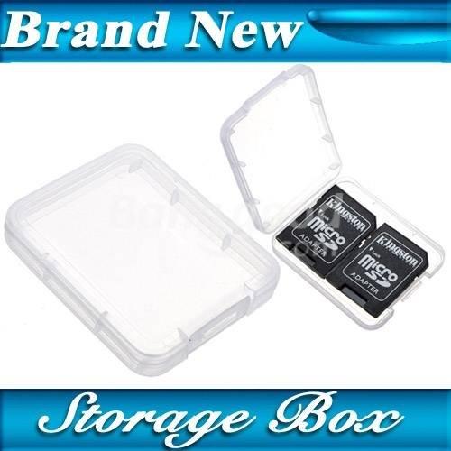 Pink Lizard Micro SD card SDHC MMC memoria cf plastica cassa del supporto trasparente stoccaggio scatola