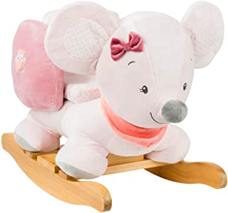 Nattou Valentine The Mouse Rocker, Pink