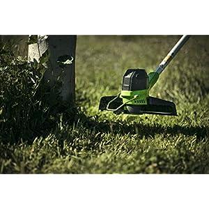 Greenworks Akku-Rasentrimmer G40LT (Li-Ion 40V 30cm Schnittbreite 7000U/min verstellbarere Zusatzhandgriff Alu-Führungsholm Flowerguard ohne Akku und Ladegerät)