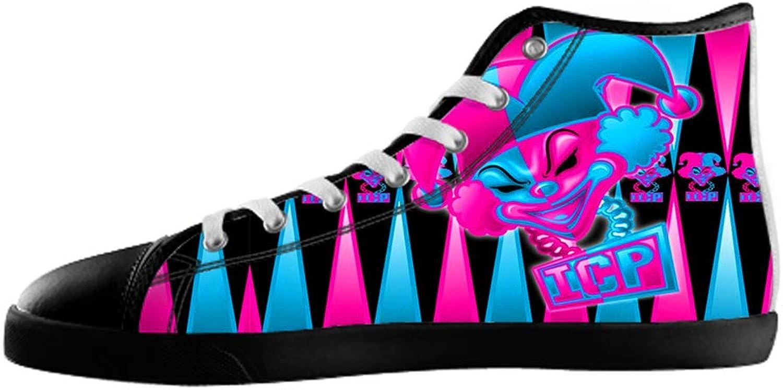 KJLJ-MENS Men's Insane Clown Posse High Top Canvas shoes Insane Clown Posse Canvas shoes