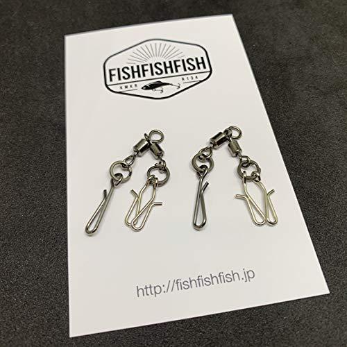 【FISHFISHFISH】イイダコ・小タコ用ワンタッチ・トリプルスイベル タコエギスナップ 2個セット(小)