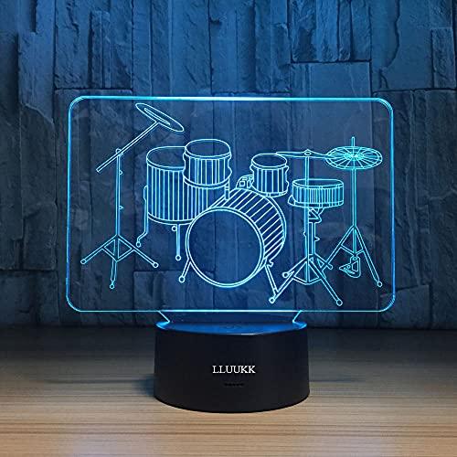 3D Drum Set Night Light