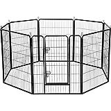 yahee Tech Cachorro Parque Piñón Libre Gehege Cachorro caño Parque Perros Animales Parque para Animales pequeños, con Puerta