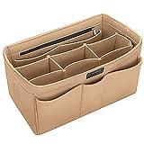Ropch Handtaschen Organizer Taschenorganizer mit Fächer Geldbeutel-Einsatz Bag in Bag Handtaschenordner, Beige - XL