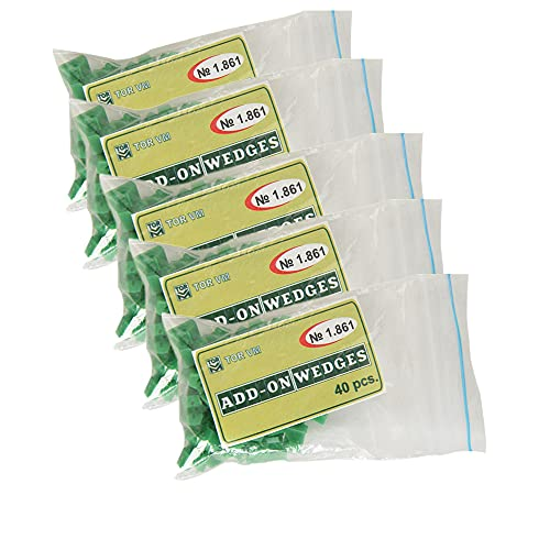 200pcs Dental Silicone Add On Wedges TOR VM No 1.861 Delta Ring Tine Green