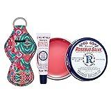 Smith's Rosebud Salve, Lip Balm and Lip Balm Holder Keychain Bundle - Natural Lip Care Moisturizer, All-Purpose and Case for Teens, Women and Men (Rosebud Salve)