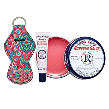 Smith's Rosebud Salve Lip Balm and Lip Balm Holder Keychain Bundle - Natural Lip Care Moisturizer All-Purpose and Case for Teens Women and Men  Rosebud Salve
