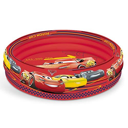 Mondo Toys - Cars 3 | 3 Rings Pool - Piscina gonfiabile per bambini 3 anelli - diametro 100 cm - capacità 84 Lt. - 16250