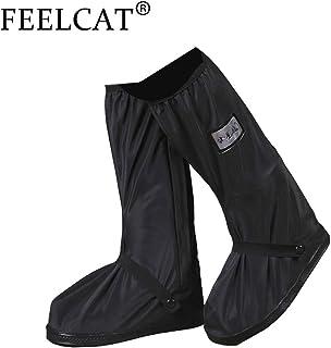 FEELCAT レインシューズカバー 雨 雪 梅雨対策 防水靴カバー 滑り止め レインブーツ 携帯可 レインシューズ 男女兼用 通勤 通学 自転車 突然の雨対応