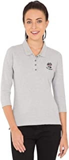 Jockey Women's Plain T-Shirt, Light Grey Melange