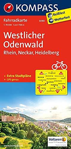 Westlicher Odenwald - Rhein - Neckar - Heidelberg 1 : 70 000: Fahrradkarte. GPS-genau: 3090