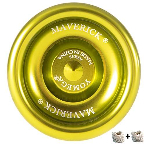 Yomega Maverick -Professional Aluminum Metal Yoyo for Kids and Beginners with C Size Ball Bearing for Advanced yo yo Tricks and Responsive Return (Colors May Vary)