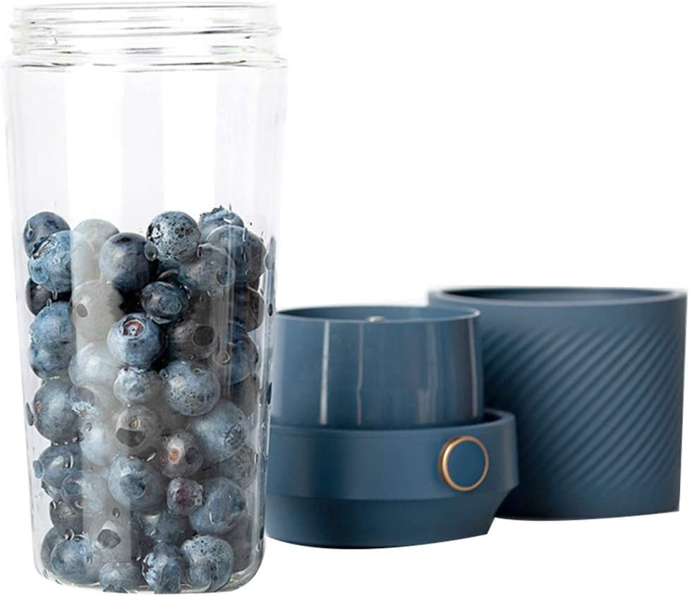 Mini Blender, 400ml Presse-Agrumes électrique Portable, USB Rechargeable de Cuisine Fruit Mixer, pour la Maison Sports de Plein air Bureau Voyage pour Enfants,Beige White