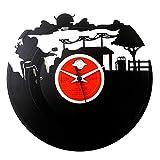 Orologio in Vinile Regalo Motociclista, Idea Regalo Motociclista Vintage Originale Vinyluse Orologio America Driver