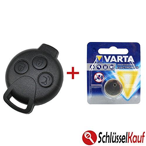 Smart Autoschlüssel 3 Tasten Gehäuse 451 ForTwo ForFour Roadstar Coupe + Batterie Neu