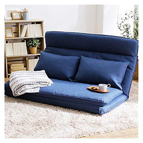 WSZMD Soggiorno Camera Mobili Divano Letto Letto Divani Multifunzionale Divano Letto Giapponese Tatami Futon Folding Gaming Lounge Divano, Divano Letto (Color : Blue Color, Type : One Seat)