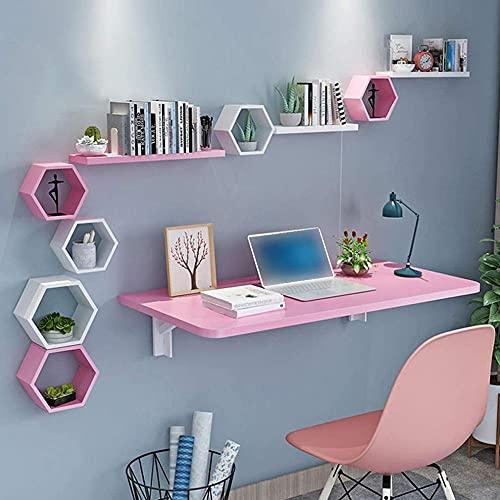 Mesa plegable de almacenamiento grande montada en la pared, mesa de ordenador, mesa de bar, escritorio de escritorio, mesa de ordenador, mesa de
