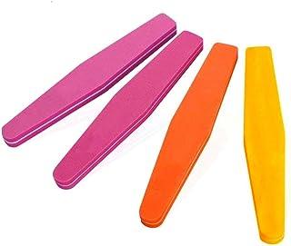 مبرد أظافر احترافي 4 قطع من ألواح الأظافر، مبرد فني لملمع الأظافر، أدوات تلميع الأظافر بوجهين