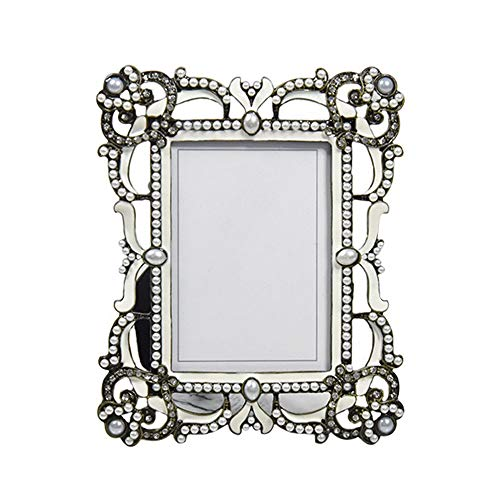NEHARO Vintage Porträt-Foto-Frames Gothic kreativer Weinlese-Metall-Bilderrahmen 3,5 Zoll Desktop-Dekoration for Heim Stehend oder an der Wand montierbar (Color : Picture Color, Size : 3.5 inches)