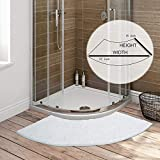 Seavish Luxury White Shag Curved Bath Rug, 18 x 57 inch Non Slip Microfiber Soft...