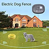 dr.tiger Electric Dog Fence with Wire for 2 Dogs or Other Pets, Collars Send Beeps Vibration or Shock Correction in The Containment System, Unlimited Collars Can Be Added,Black