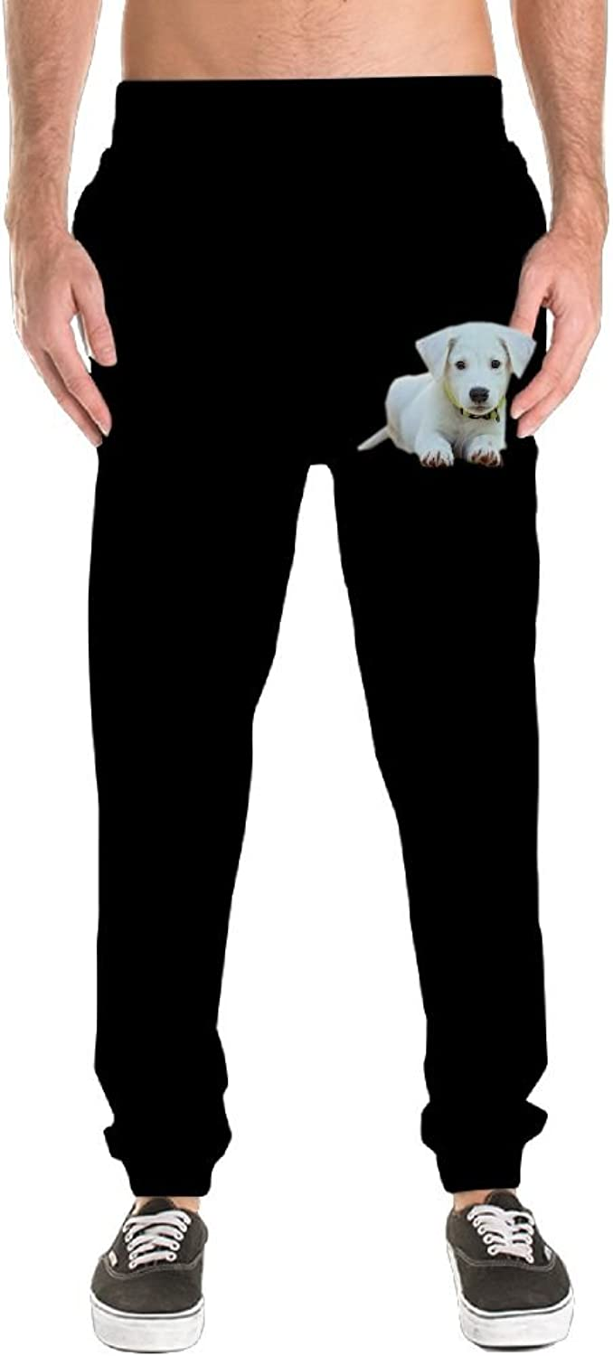 c178757019 Men's Jogger Sweatpants Pockets Dog Puppy Drawstring Lightweight Casual  Casual Casual Workout Yoga a7a11c