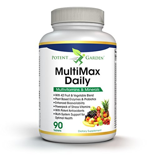 MultiMax Daily Multivitamin for Women and Men - Best Whole Food Based Natural Multivitamins Supplement - 21 Vitamins and Minerals - Proprietary Blend of 42 Fruit Vegetable Super Foods - Probiotics