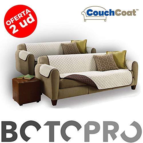 BOTOPRO - Oferta 2 Uds. Couch Coat, la Funda de sofá Impermeable, Lavable y Reversible - Anunciado en TV