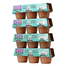 Birthday Cake Applesauce Cups from Zee Zees
