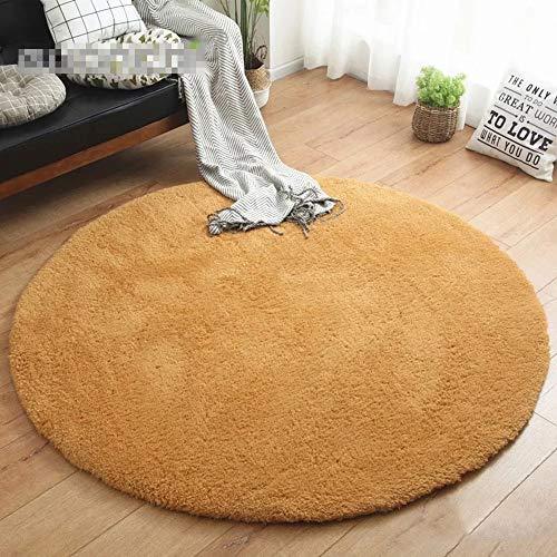 WXQY Faux Fur Rug Soft Fluffy tapijt, bont tapijt of sprei voor stoelen, machinewasbaar, geen shedding, robuuste ronde tapijt voor woonkamer