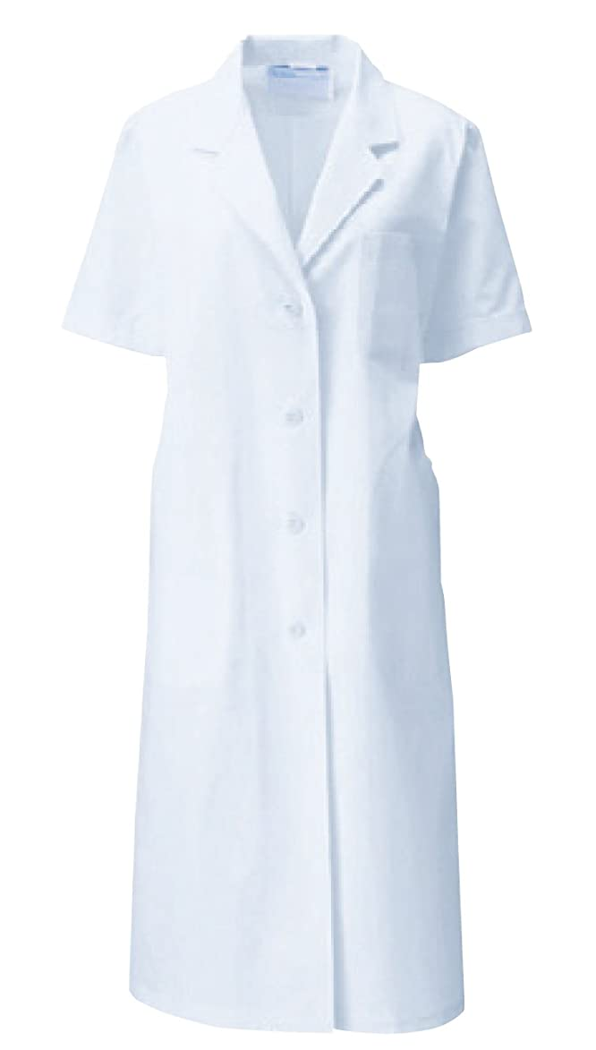 感染する偉業湿原診察衣 白衣 カゼン(KAZEN) 医療 122-30 レディス S型半袖 S~4L