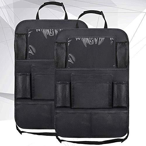 XYHCS. 1pc / 2pcs Car Seat Tasche Posteriori Organizzatore 9 Storage con Supporto for Tablet Touch Screen Protector for Kids Bambini Accessori Auto (Color : 2Pcs)