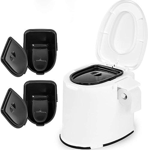 Wc portable pour camping toilet toilettes de pour le pique-nique et les festivals de camping caravaning au bord de la piscine (blanc),1