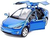 Regalos para niños juguete, Modelo de coche 1:32 Tesla X Todoterreno SUV simulación de aleación de fundición a presión 15x5.5x4.5cm juguete modelo estático colección del regalo del Micro Vehículo