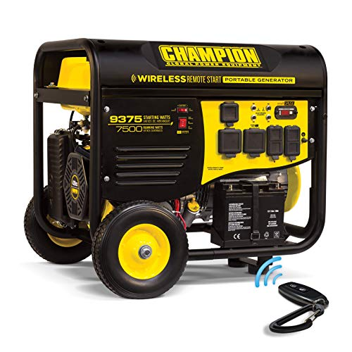 Champion Power Equipment 100161 9375/7500-Watt RV Ready Portable Generator with Wireless Remote Start