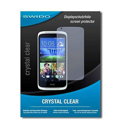 SWIDO Bildschirmschutz für HTC Desire 526G Dual SIM [4 Stück] Kristall-Klar, Hoher Festigkeitgrad, Schutz vor Öl, Staub & Kratzer/Schutzfolie, Bildschirmschutzfolie, Panzerglas Folie