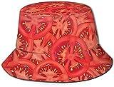 Sombrero de Cubo de Viaje con Estampado de fórmula de química Unisex, Gorra de Pescador de Verano, Sombrero para el Sol, Vegetal Rojo Vegano