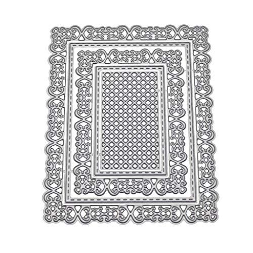 Zchun - Plantilla de troquelado con marco cuadrado de metal para manualidades, álbum de recortes, sello de papel, tarjeta de repujado, decoración artesanal