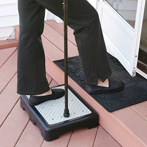 Support Plus escalón elevador alto para interior/exterior de 3 1/2 pulgadas, antideslizante, para todo tipo de clima, ayuda a la movilidad de pies y pies